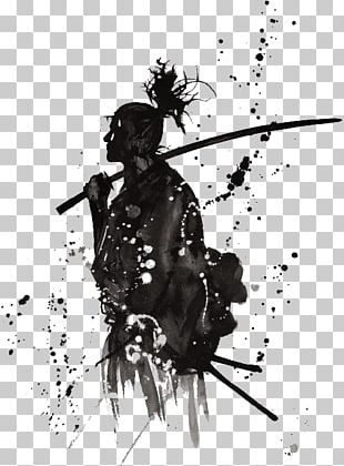 Samurai Japan Katana Warrior PNG