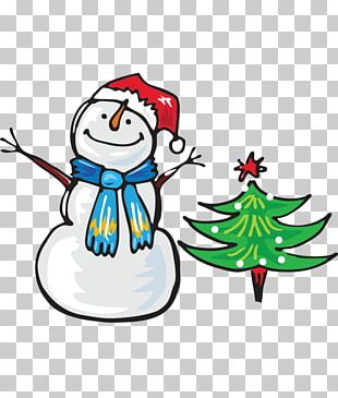 Winter Snowman New Year Child PNG