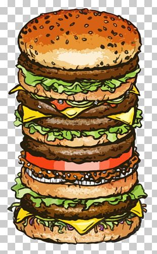 Hamburger Cheeseburger McDonald's Big Mac Veggie Burger French Fries PNG
