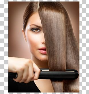 Hair Iron Hair Straightening Hairstyle Hair Care Beauty Parlour PNG