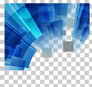 Blue Geometric Background PNG