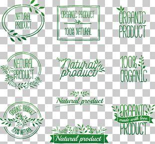 Organic Food Logo Label PNG