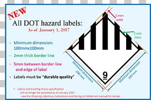 HAZMAT Class 9 Miscellaneous Paper Dangerous Goods Label Transport PNG