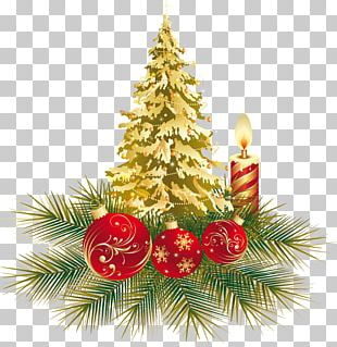 Christmas Tree New Year Santa Claus Bombka PNG