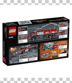 "Lego Technic Toys ""R"" Us LEGO 42068 Technic Airport Rescue Vehicle PNG"