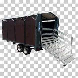 Livestock Transportation Trailer Industrial Design PNG