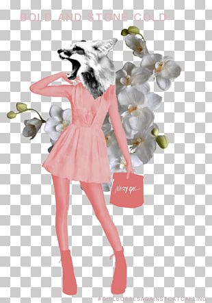 Fashion Illustration Costume Pink M PNG