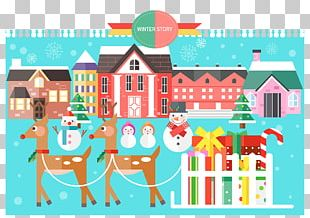 Santa Claus Christmas Flat Design Illustration PNG