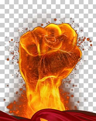 Fire Fist Material PNG