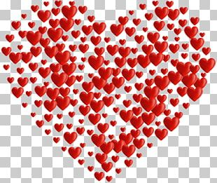 Red Heart Valentine's Day Pattern PNG
