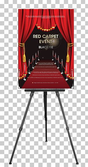 Poster Artist Easel Step And Repeat Red Carpet PNG