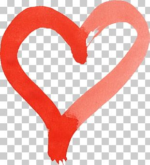 Transparent Watercolor Heart Watercolor Painting Red PNG