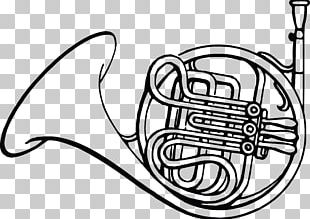 French Horns Coloring Book Drawing Musical Instruments PNG