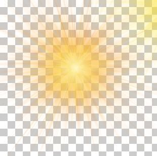 Sunlight Sky Yellow Pattern PNG