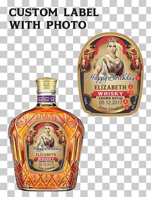 Crown Royal Bourbon Whiskey Canadian Whisky Distilled Beverage PNG