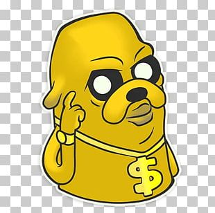 Jake The Dog Sticker Telegram Text PNG