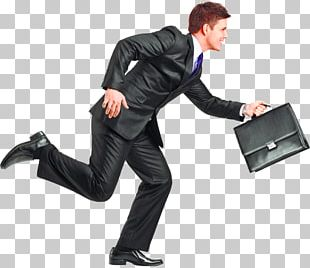 Running Businessman PNG