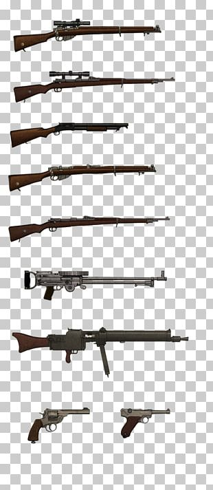 First World War Weapon Firearm Machine Gun Stock PNG
