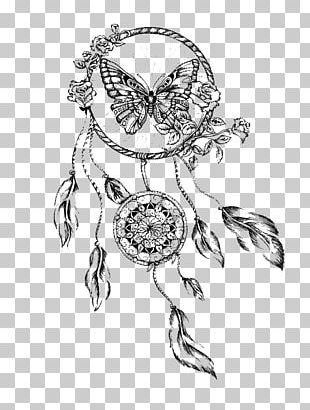 Dreamcatcher Drawing Butterfly Tattoo PNG