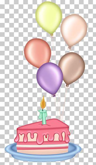 Birthday Cake Cupcake Balloon PNG