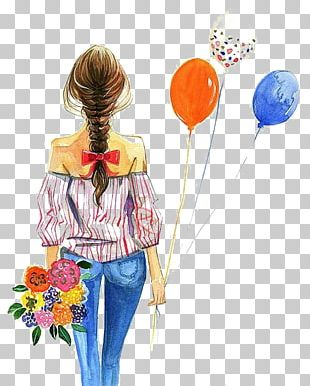 Fashion Illustration Watercolor Painting Drawing Illustration PNG