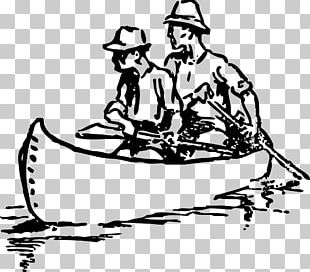 Canoe Drawing Rowing PNG