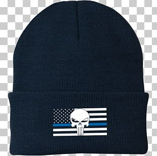 Thin Blue Line United States Beanie Police Law Enforcement PNG