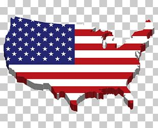 Flag Of The United States Map PNG
