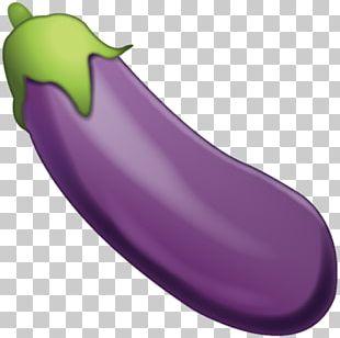 Emoji Eggplant Vegetable Text Messaging Sticker PNG