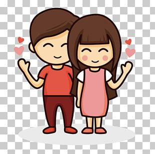 Drawing Cartoon Couple Love PNG