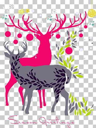 Reindeer Canvas Oil Painting Paint By Number PNG