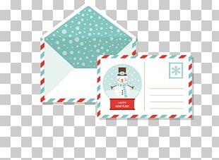 Paper Postcard Envelope Christmas PNG
