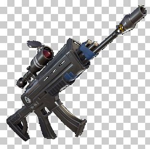 Fortnite Battle Royale Assault Rifle Weapon Telescopic Sight PNG