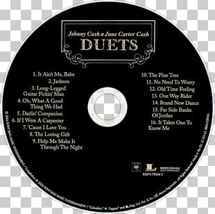 June Carter And Johnny Cash: Duets Compact Disc Carryin' On With Johnny Cash And June Carter Music Album PNG