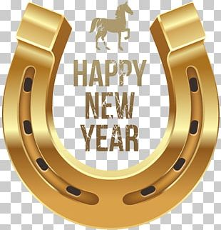 Horse New Year's Day Wish PNG