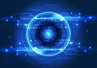 Science And Technology Blue Eyes PNG