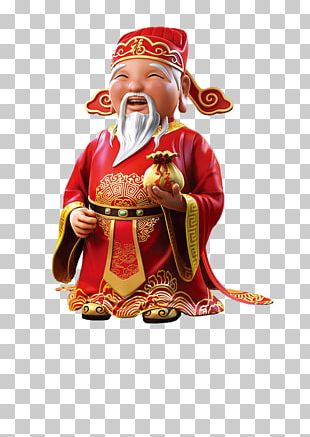 Caishen Chinese New Year Here Comes Fortune Red Envelope Chinese Zodiac PNG