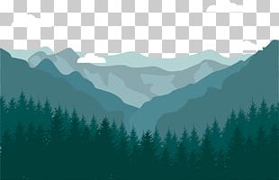 Flat Design Landscape Mountain PNG