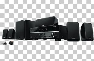 Home Theater Systems YAMAHA YHT-1810 Black AV Receiver 5.1 Surround Sound Yamaha Corporation Yamaha YHT298 3d Receiver And Speaker Package 110 PNG