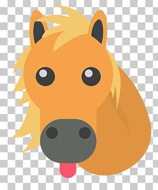 Horse Showing His Tongue Emoji PNG
