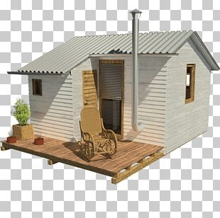 Shed Log Cabin House Plan Building Architectural Plan PNG