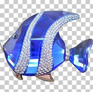 Brooch Swarovski AG Jewellery Cobalt Blue Fish PNG