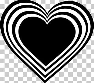 Heart Black And White Love PNG