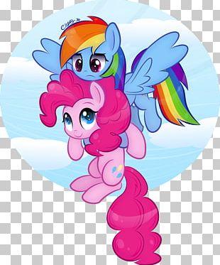 Pinkie Pie Rainbow Dash Pony Rarity Art PNG