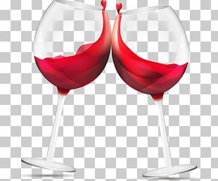 Red Wine Glasses PNG