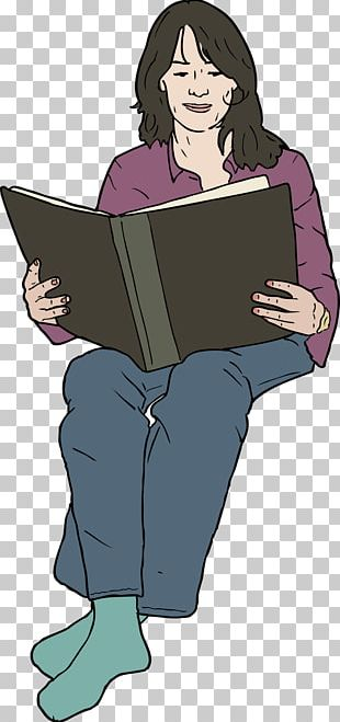 Woman Reading PNG