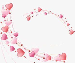 Beautiful Love Beautiful Heart-shaped Frame PNG