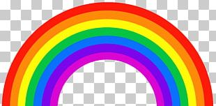 Rainbow Color ROYGBIV Light Orange PNG