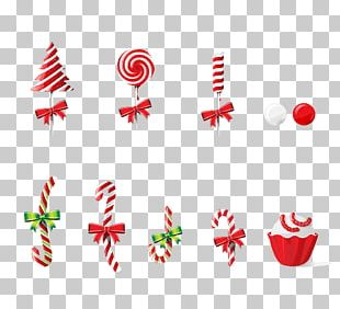 Lollipop Candy Christmas Poster PNG