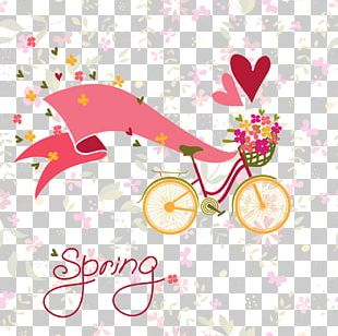 Bicycle Flower Stock Photography Illustration PNG